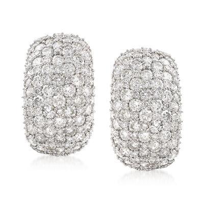 7.00 ct. t.w. Diamond Cluster Earrings in 14kt Yellow Gold, , default