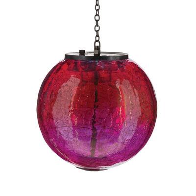 Regal Set of 2 Pink Globe Solar Lanterns, , default