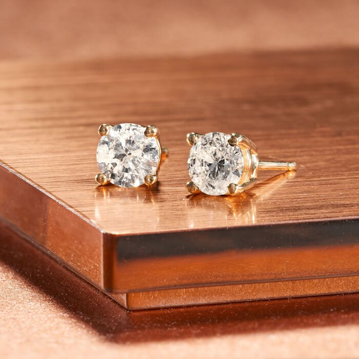 1.25 ct. t.w. Diamond Stud Earrings in 14kt Yellow Gold