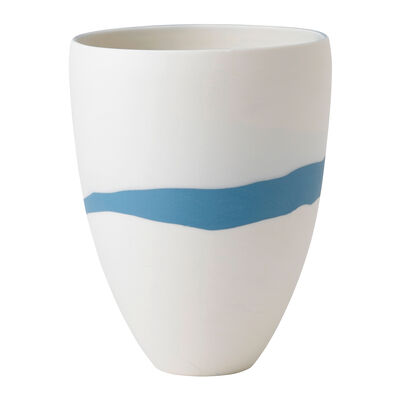 "Wedgwood ""Jasperware"" Blue Pebble Vase, , default"