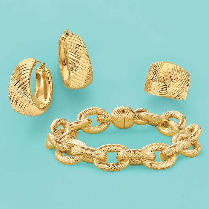 Andiamo Italian 14kt Yellow Gold Cable Link Bracelet