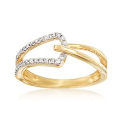 .15 ct. t.w. Diamond Open-Space Interlocking Ring in 14kt Yellow Gold, , default