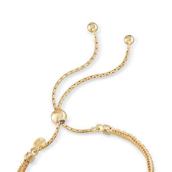 Italian 2.00 ct. t.w. CZ Bolo Bracelet in 18kt Gold Over Sterling, , default