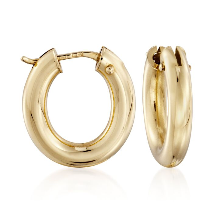 "Roberto Coin 18kt Yellow Gold Earrings. 3/4"", , default"