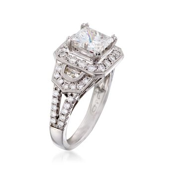 2.97 ct. t.w. Certified Diamond Engagement Ring in 14kt White Gold, , default