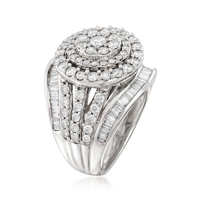 1.75 ct. t.w. Diamond Double-Circle Ring in 14kt White Gold