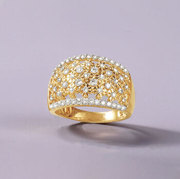 .75 ct. t.w. Diamond Dome Ring in 14kt Yellow Gold
