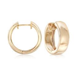 14kt Yellow Gold Hoop Earrings, , default