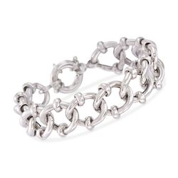 "Italian Sterling Silver Curb-Link Chain Bracelet. 7.5"", , default"