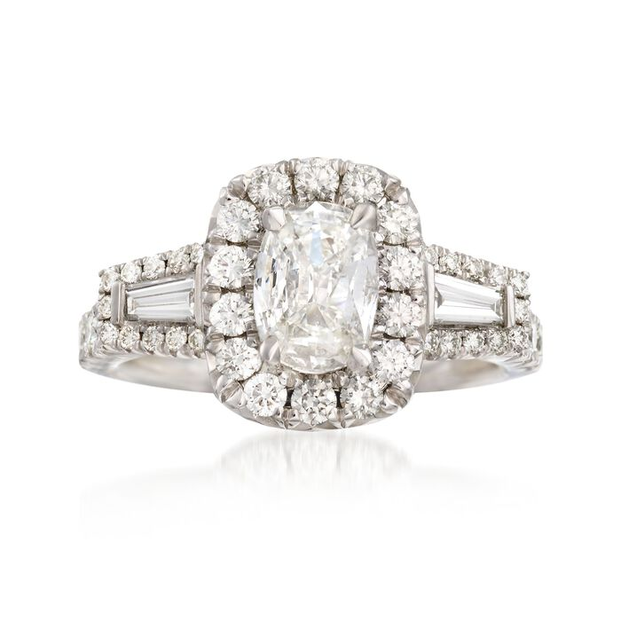 Henri Daussi 1.88 ct. t.w. Certified Diamond Engagement Ring in 18kt White Gold, , default