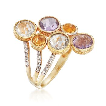 3.90 ct. t.w. Multi-Stone Ring in 14kt Gold Over Sterling, , default