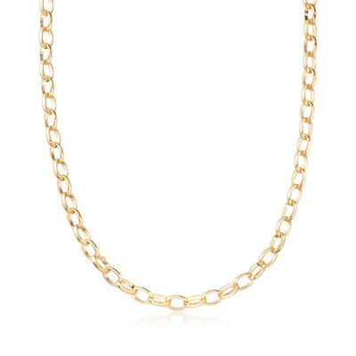 Italian 6.3mm 18kt Yellow Gold Cable-Link Chain Necklace, , default