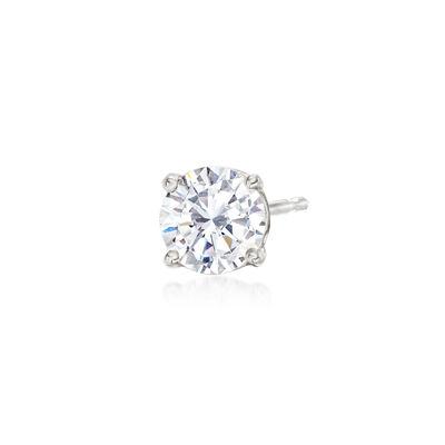 .50 Carat Diamond Single Stud Earring in 14kt White Gold