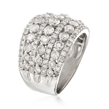3.00 ct. t.w. Multi-Row Diamond Ring in Sterling Silver