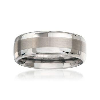 Men's 8mm Tungsten Carbide Wedding Ring, , default