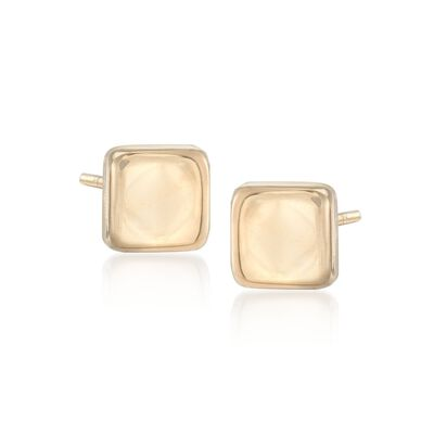 14kt Yellow Gold Square Stud Earrings, , default