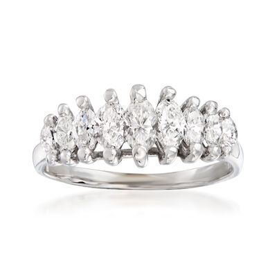 C. 1980 Vintage 1.00 ct. t.w. Diamond Ring in  14kt White Gold