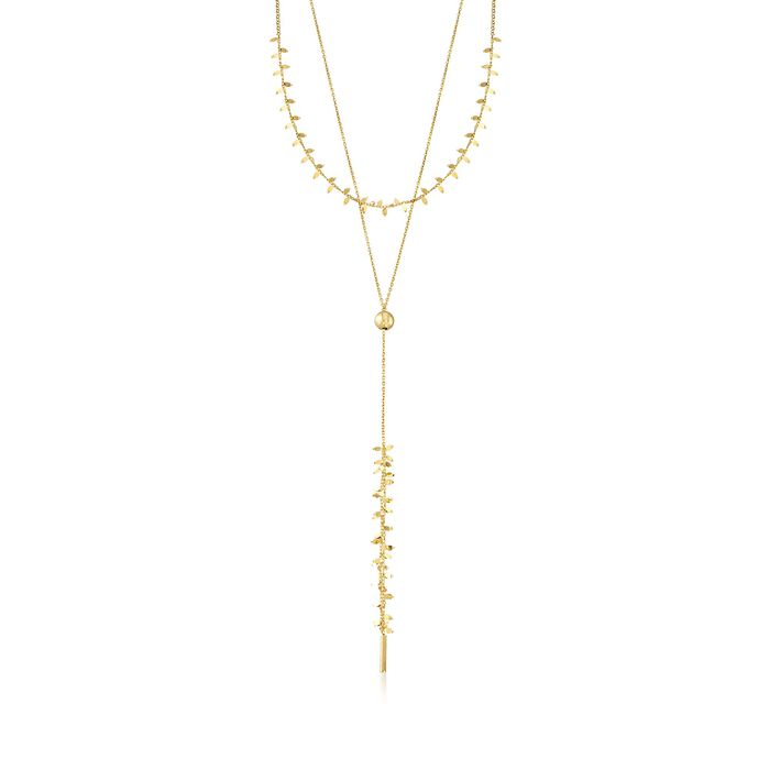 Italian 18kt Yellow Gold Over Sterling Silver Layered Y-Necklace