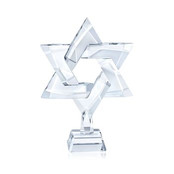 "Swarovski Crystal ""Star of David"" Crystal Figurine , , default"