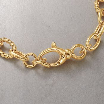 "Italian Andiamo 14kt Yellow Gold Curb-Link Necklace. 17.75"", , default"