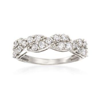 1.00 ct. t.w. Diamond Twist Ring in 14kt White Gold, , default