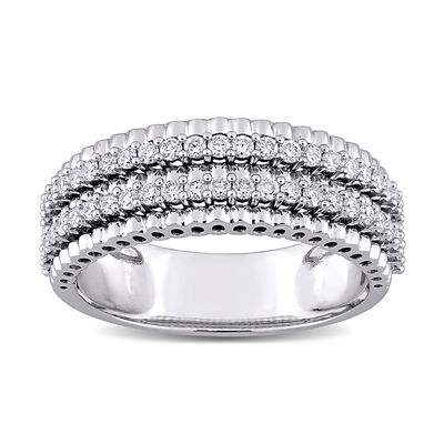 .50 ct. t.w. Diamond Double-Row Ring in 14kt White Gold