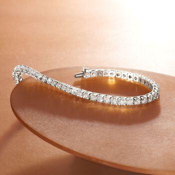 7.00 ct. t.w. Diamond Tennis Bracelet in 14kt White Gold, , default