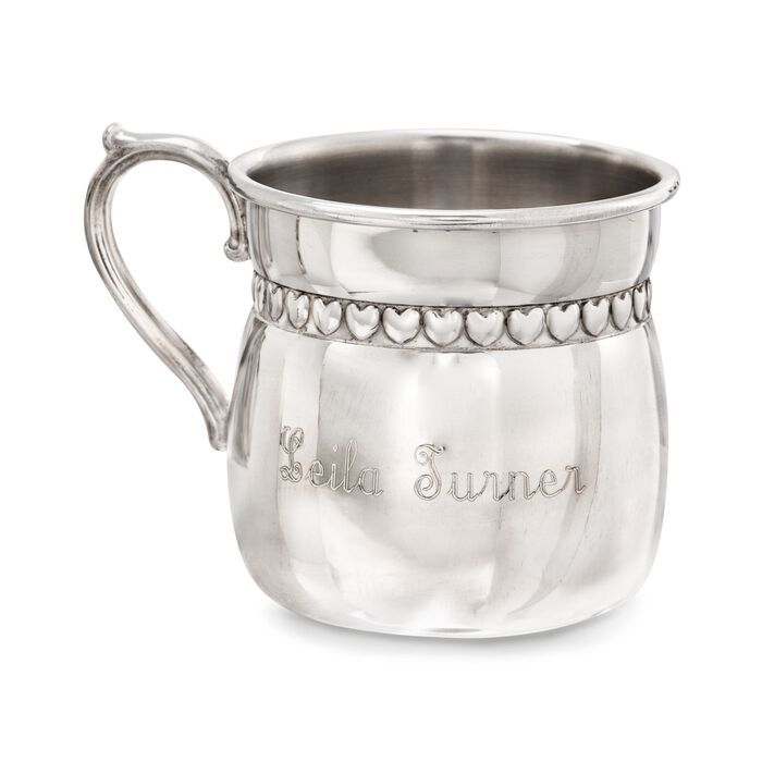 Reed & Barton Pewter Baby Hearts Baby Cup