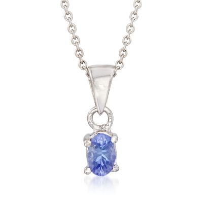 .40 Carat Tanzanite Pendant Necklace in Sterling Silver, , default