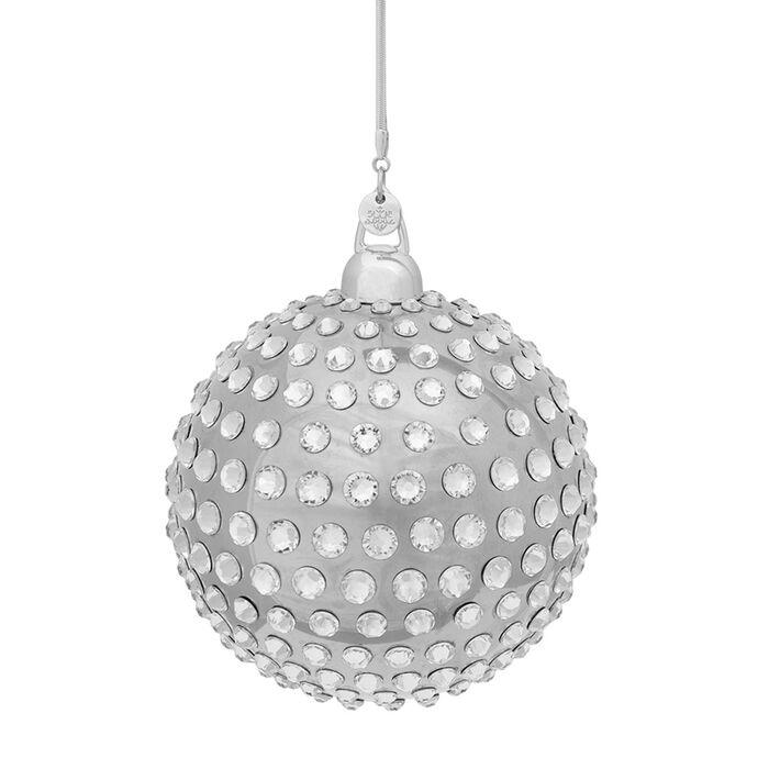 Crystamas Xirius Swarovski Crystal Platinum-Colored Ball Ornament, , default