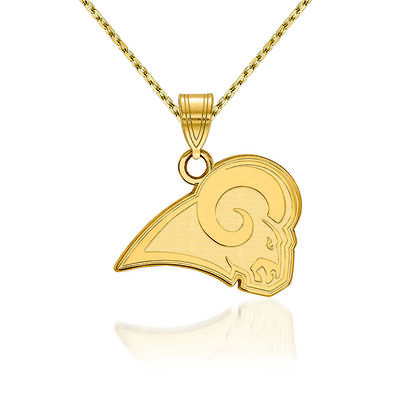 14kt Yellow Gold NFL Los Angeles Rams Pendant Necklace. 18""
