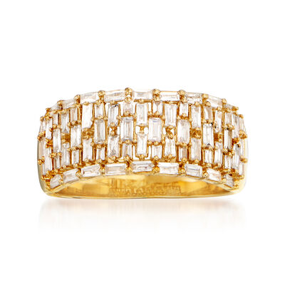 .78 ct. t.w. Diamond Multi-Row Ring in 14kt Yellow Gold