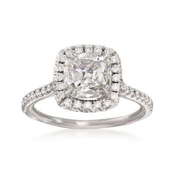 Henri Daussi 1.67 ct. t.w. Certified Diamond Engagement Ring in 18kt White Gold, , default