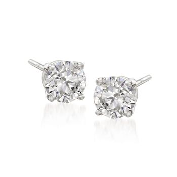 6.00 ct. t.w. CZ Jewelry Set: Three Pairs of Stud Earrings in 14kt White Gold , , default