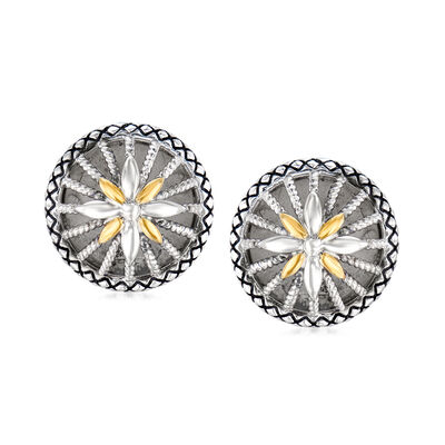"""Andrea Candela """"Radiante"""" Sterling Silver and 18kt Yellow Gold Earrings, , default"""