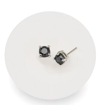 1.00 ct. t.w. Black Diamond Stud Earrings in Sterling Silver, , default