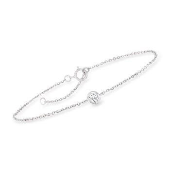 ".20 Carat Diamond Bracelet in 14kt White Gold. 7.25"", , default"
