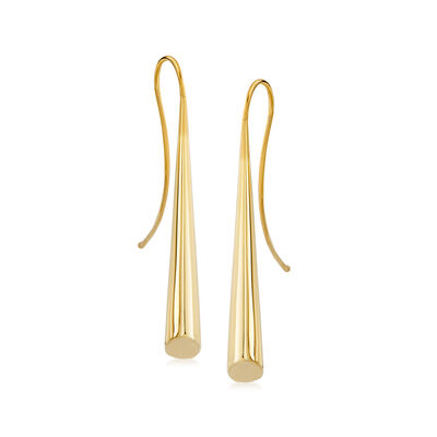 Italian 14kt Yellow Gold Cone Drop Earrings