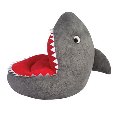 Children's Plush Shark Chair, , default
