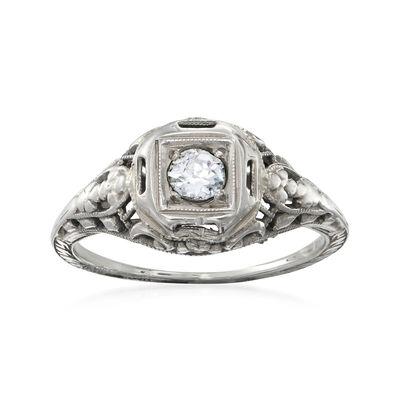 C. 1950 Vintage .15 Carat Diamond Ring in 18kt White Gold, , default