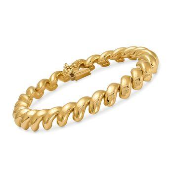 "14kt Yellow Gold Wide San Marco Bracelet. 7"", , default"