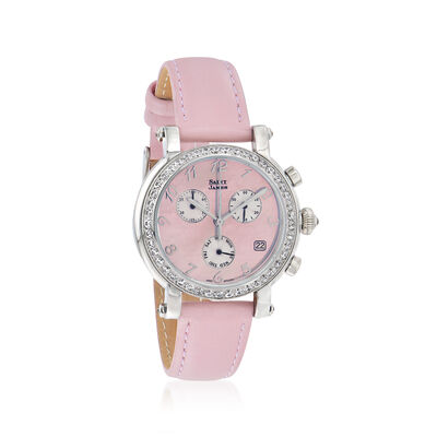 Saint James Women's 36mm Pink Mother-Of-Pearl Watch in Stainless Steel, , default