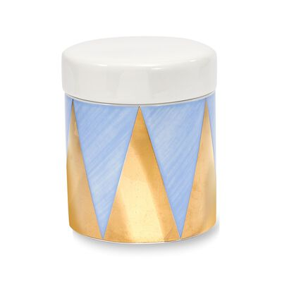 "Lenox and Luca Andrisani ""Blue Azzurro"" Small Porcelain Canister, , default"