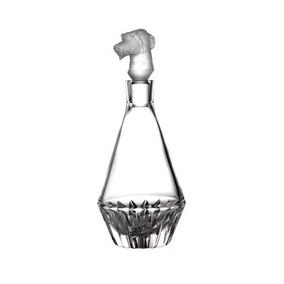 """Waterford Crystal """"Irish Dogs Madra"""" Wolfhound Decanter"""