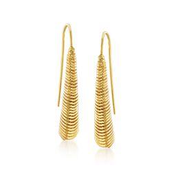 Italian 14kt Yellow Gold Horn Drop Earrings, , default