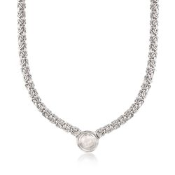 10mm Cultured Pearl Byzantine Necklace in Sterling Silver, , default