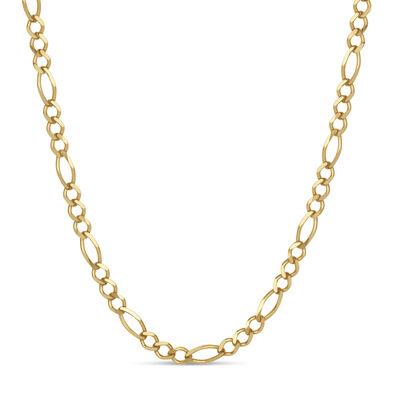 Italian Men's 18kt Gold Over Sterling 4.3mm Figaro Chain