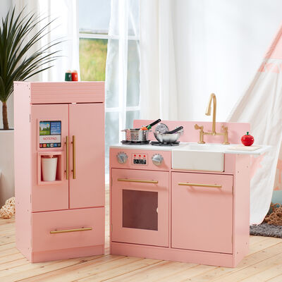 Child's Little Chef Chelsea Modern Play Kitchen in Pink, , default