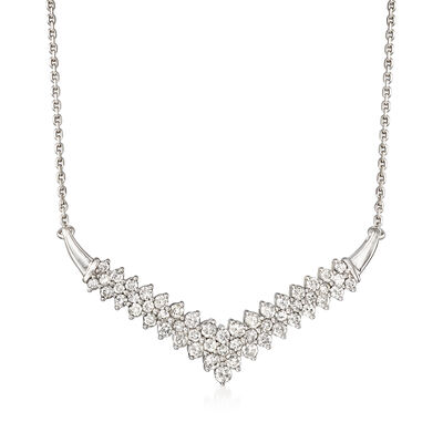 2.00 ct. t.w. Diamond Chevron Necklace in Sterling Silver, , default