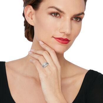 2.00 ct. t.w. Diamond Multi-Row Wedding Ring in 14kt White Gold, , default